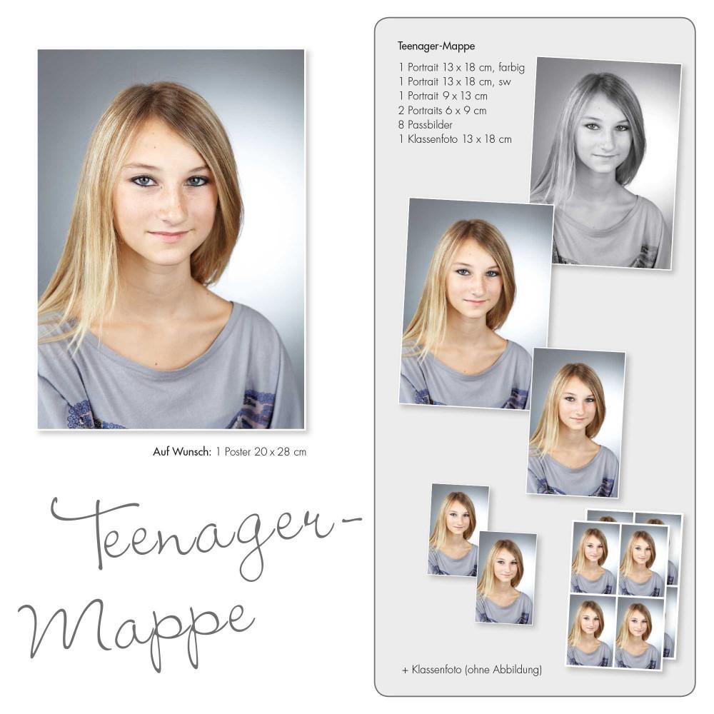 Schulfotografie 'Teenager Mappe'